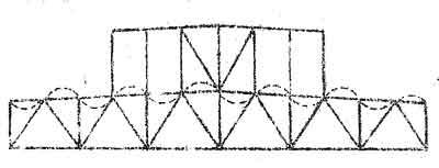 Расчетная длина верхнего пояса в плоскости фермы