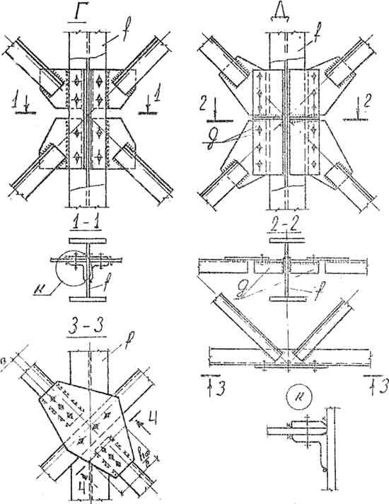 Средний узел вертикальных связей